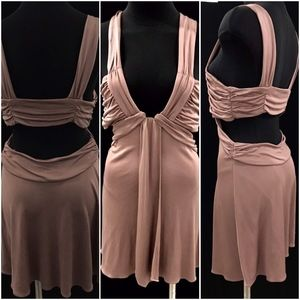 LaRok Dress 100% Silk In Dusty Rose Dress
